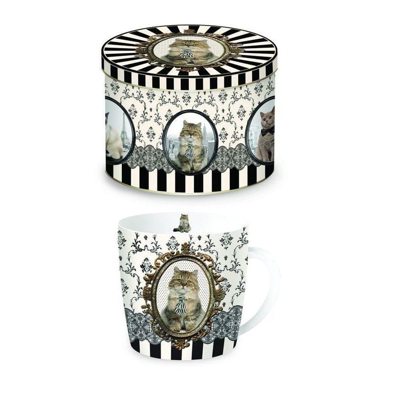 Kubek porcelanowy w metalowym pudełku