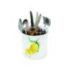 Porcelanowy pojemnik z przegródkami w kolorowym op