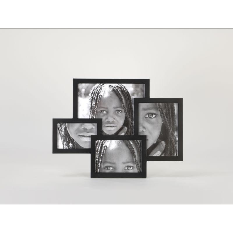 Ramka na cztery zdjęcia, MDF, czarna