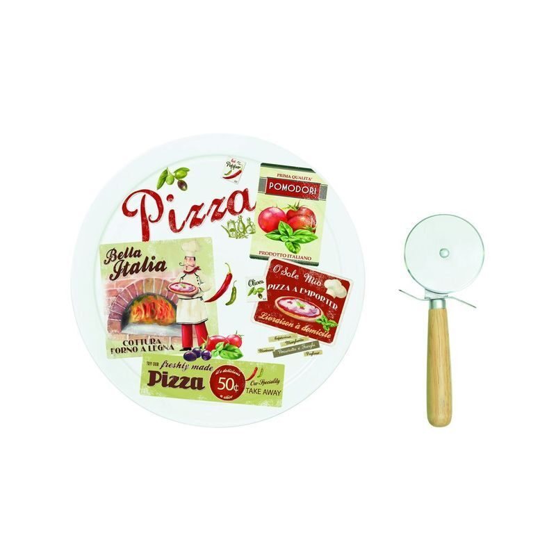 Serwis do pizzy z nożem