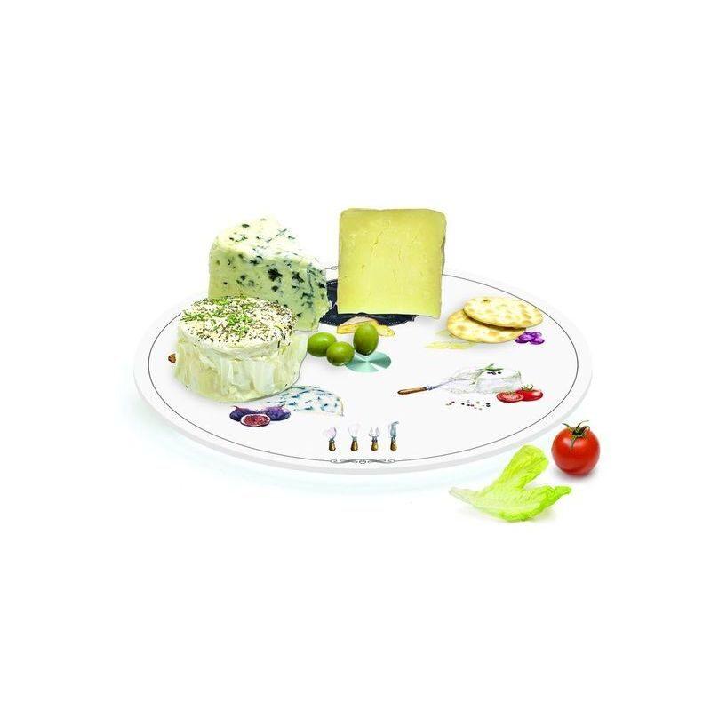 Taca obrotowa do serów szklana