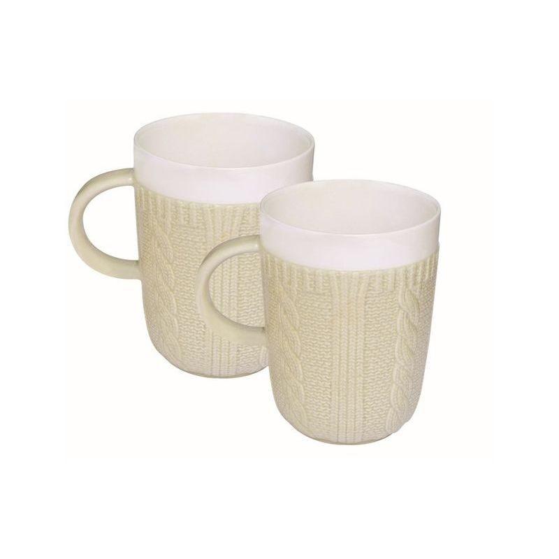 Zestaw 2 kubków z porcelany