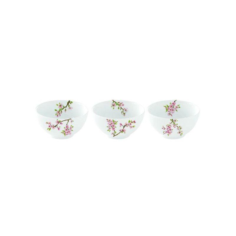 Zestaw 3 miseczek z porcelany